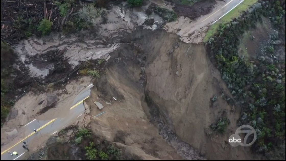 California Storm Washes Out Part of Highway 1 South of Big Sur