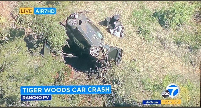 Tiger Woods injured in car accident, removed by jaws of life due to major vehicular damage