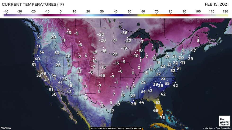 Wintry Conditions Expected For Large Section of the U.S. Early This Week