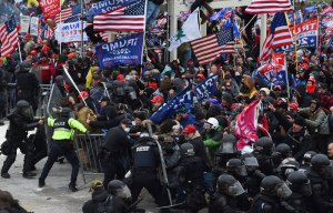 Insurrection Update:  Front of the pack': Police charging against Police in riots, per FBI