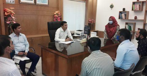 রায়পুরা উপজেলার তিন ভূমি অফিস পরিদর্শন করলেন ডিএলআরসি