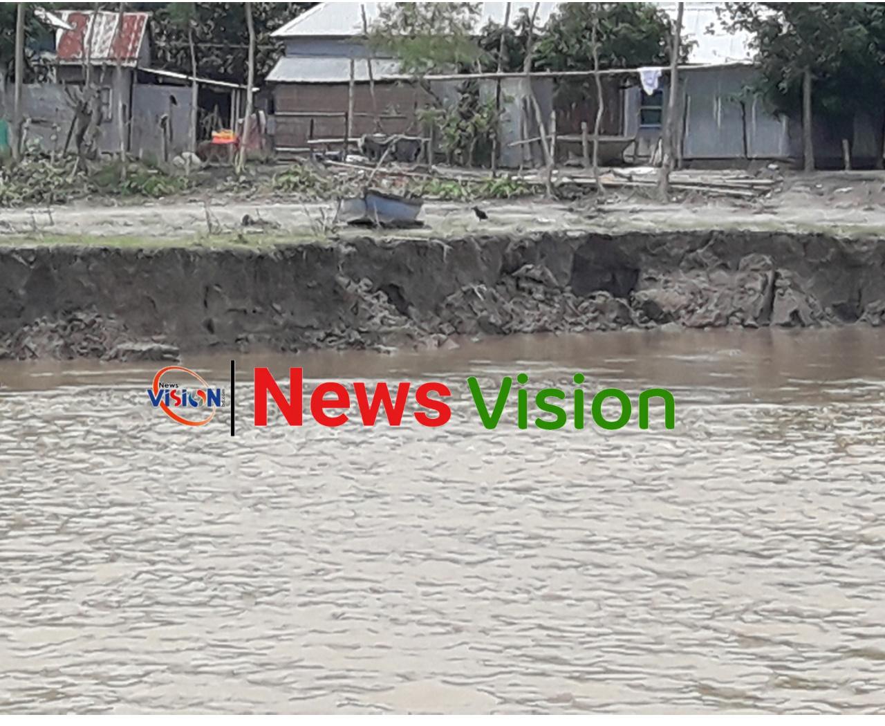 দেওয়ানগঞ্জে ব্রহ্মপুত্রের ভাঙ্গন :  বিলীন হচ্ছে ফসলি জমি বসত ভিটা