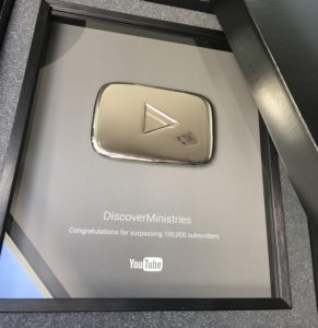 YouTube Silver Aware to Discover Ministries