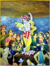 Enter under the umbrella of Govardhana Hill