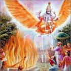 Vishnu rettet die Menschen