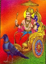 Lord Shani is son of Ravi, Sun God and his consort Chahya Devi