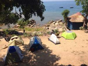 Tents at the beach.