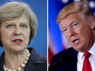theresa may and trump