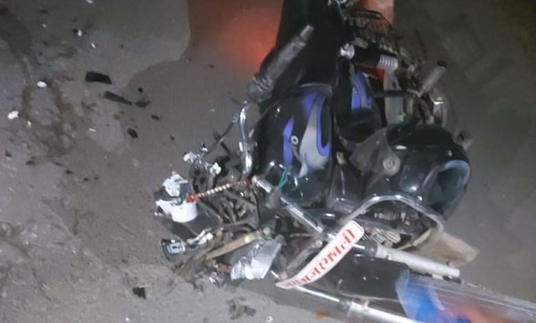 अज्ञात वाहन की चपेट में आने से मोटरसाइकिल सवार युवक की मौत