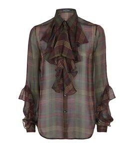 Ralph lauren plaid blouse