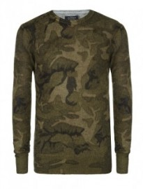 military inspired camo jumper