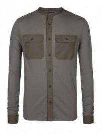 military inspired long sleeve shirt