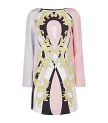 pink baroque shift dress