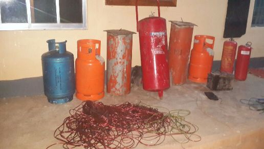 IEDs materials seized from the terrorists