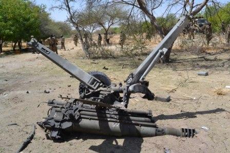 105 ARTILLARY GUN DISTRUCT BY THR AIRCRAFT FROM BHT  INSURGRNCY