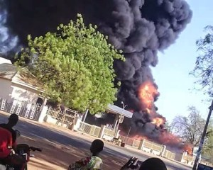 ASCON filing station on fire