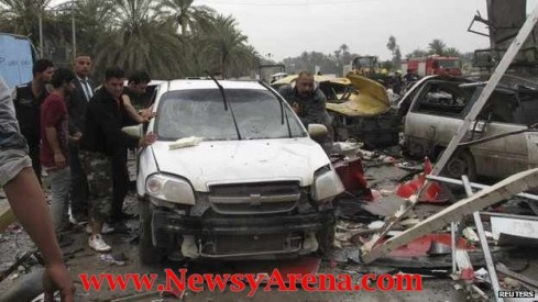 picture of the Iraq checkpoint suicide bombing