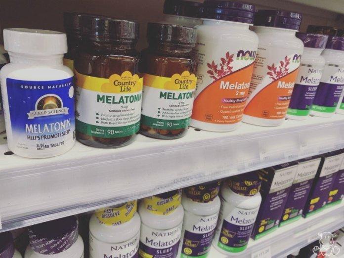Melatonin supplements on store shelves
