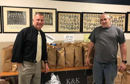 East Canton Superintendent Mr. Boggs with Mr. Kashdan