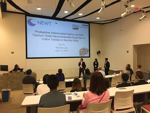 Photo of Undergraduate Water Treatment Competition presentation at Rice