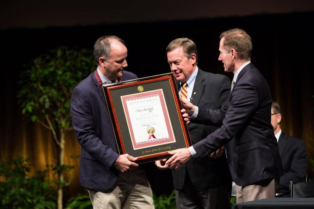 Paul Westerhoff is honored as ASU 2016-2017 Regents' Professor