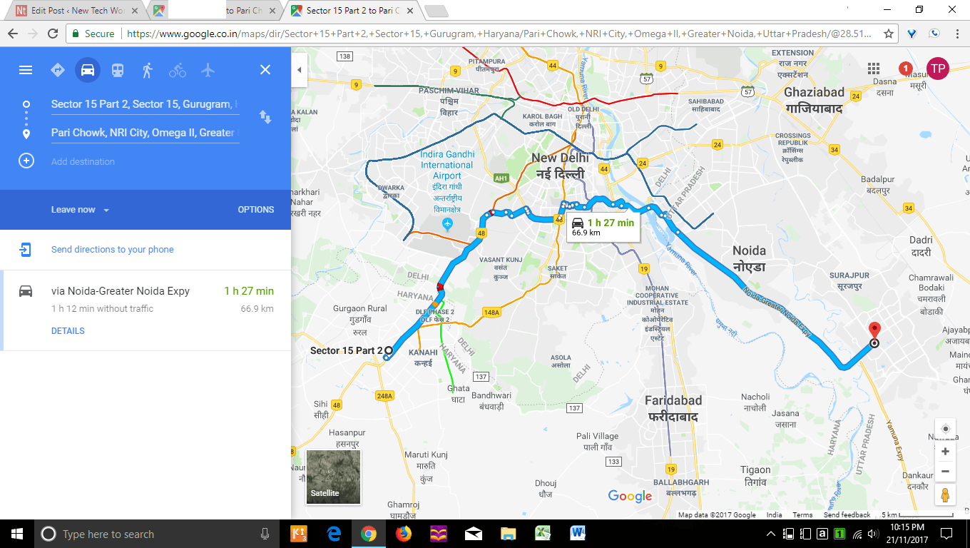 how to find direction in google map