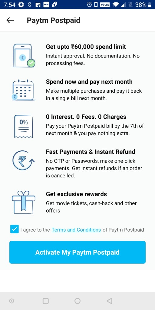 Paytm launched Paytm postpaid service with Rs  60,000 credit