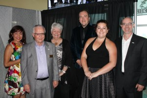 Photos by Wendy Gabrek Alliston Chamber honours local businesses – The Hornet's Nest at the New Tecumseth Recreation Centre in Alliston was the place to be for the Alliston Chamber of Commerce Business Awards, held on June 18th. Pictured are member of local council with representatives from the Red Pine Inn and Conference Centre. From left: Alexandra Braidford, JJ Paul Whiteside, Fran Sainsbury, Michael Beattie, Amanda Iaccino, Marc Biss.
