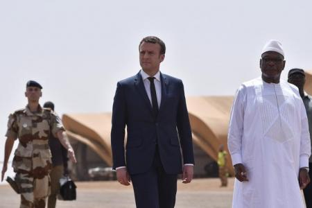 Image result for President Emmanuel Macron says France and its African partners must work together to wipe out Islamist militants in the volatile Sahel region.