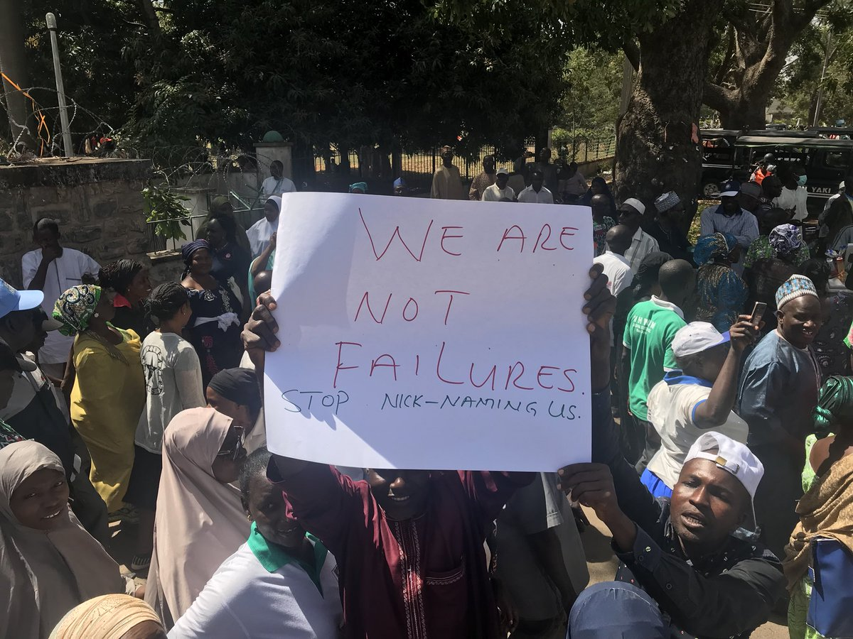 Image result for pictures of nlc protest in kaduna