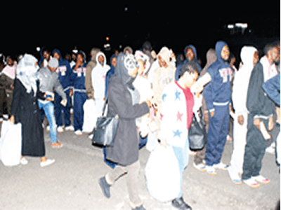 Nigerian returnees arrive Port Harcourt from Libya