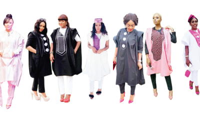 Boss ladies in Agbada
