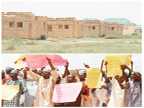 Image result for Sokoto Flood victims protest non-completion of resettlement houses