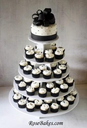 Black-White-Wedding-Cake-Cupcake-Tower-3-590x865