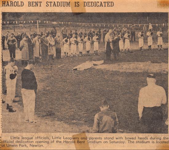 Harold Bent Stadium now Newton Unwin Park