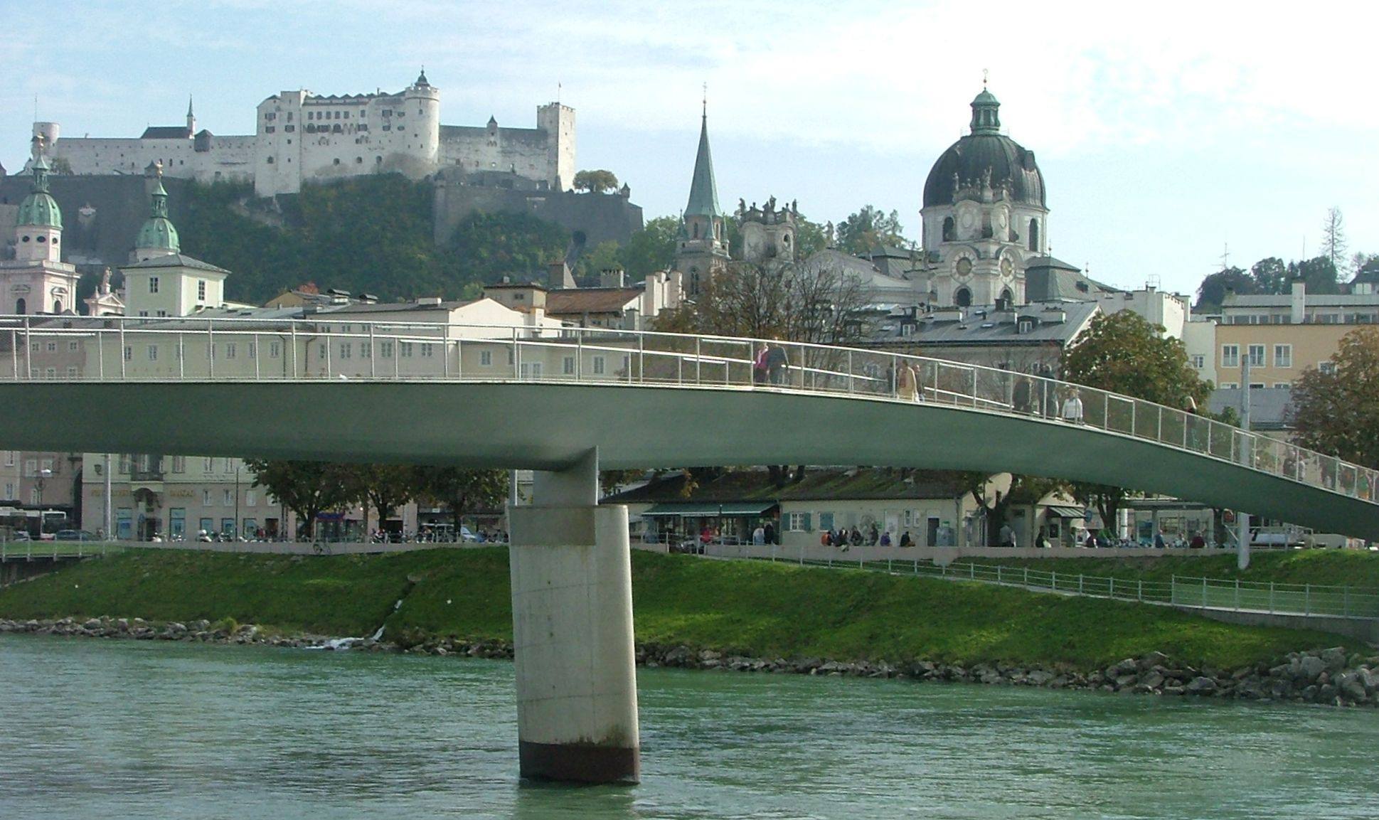 Footbridge over the Salzach River, Salzburg