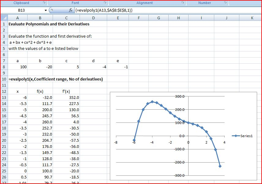 Output of EvalPoly1 Function (click to view full size)