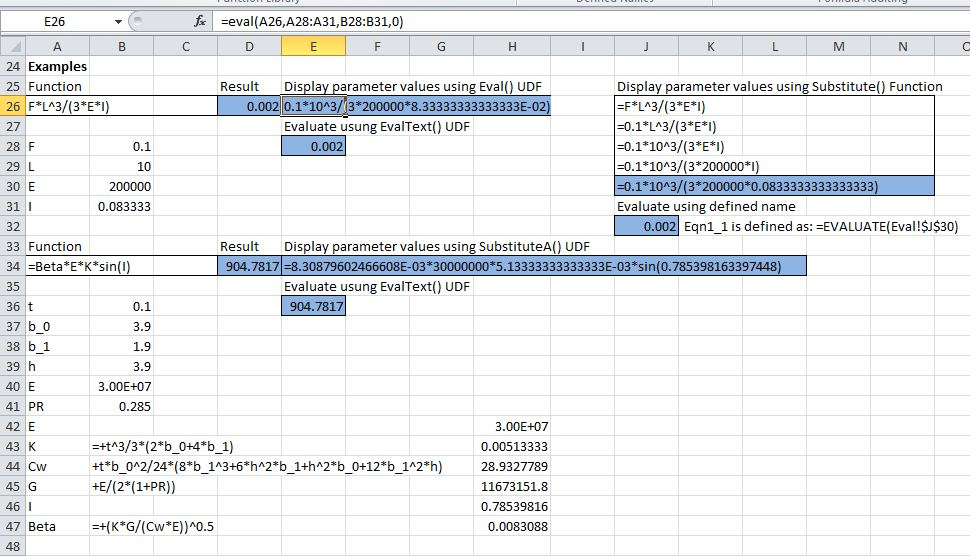 More On The Excel Evaluate Function