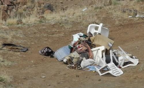 Illegal dumping, Huffaker Hills, Reno, Nevada, NV