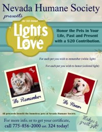 Nevada Humane Society Lights of Love