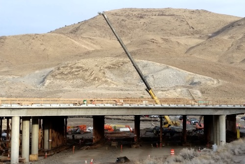 Southeast connector construction at Alexander Lake Road in Reno, Nevada, NV