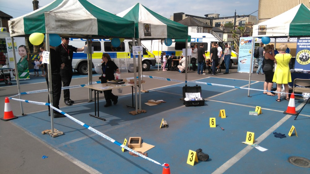 Forensics reconstruction at the Open Day.