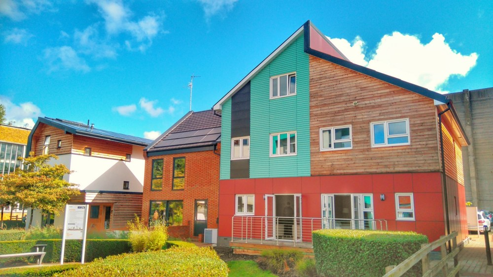 Sustainable housing examples on the BRE site.