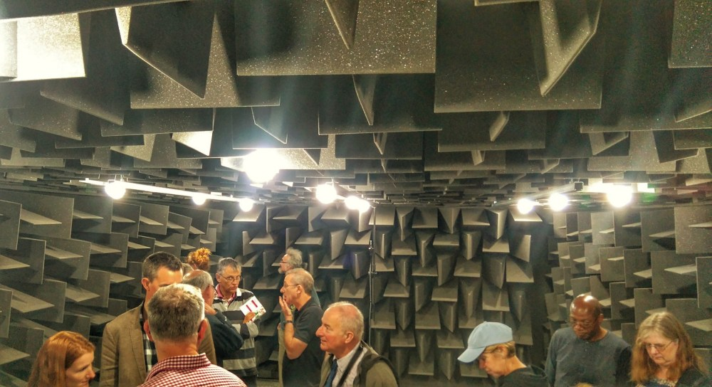 Inside the anechoic chamber.
