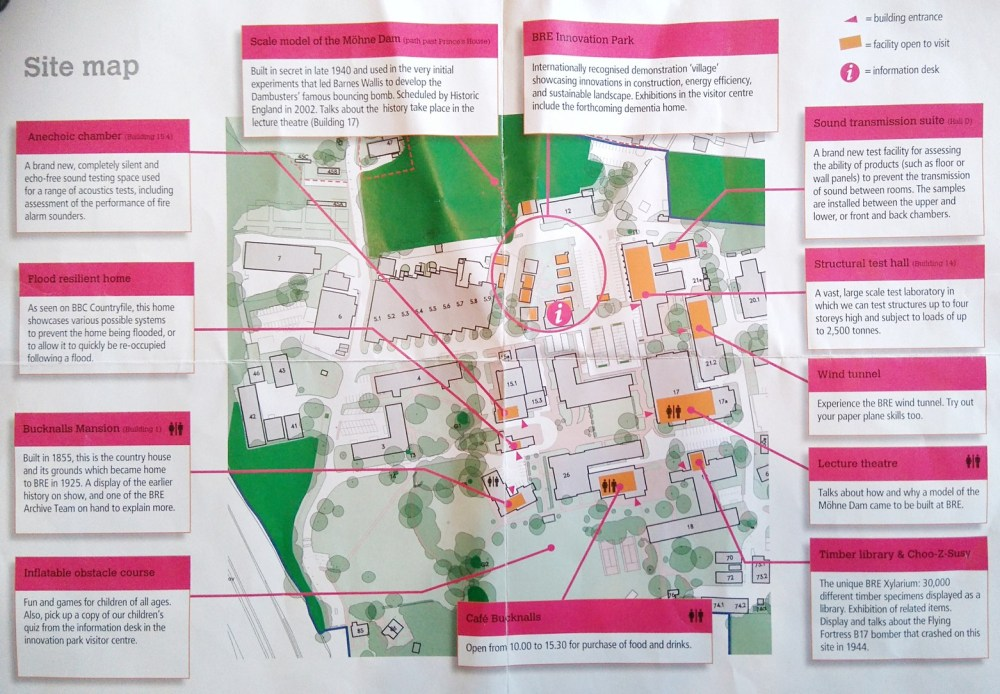 Map of the BRE site inside one of the handouts.