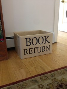 View of Book Return Box