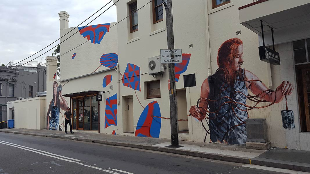 Mural by Fintan Magee, Newtown