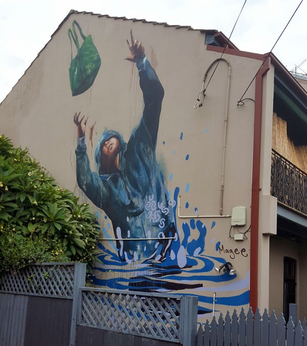 Street art graffiti by Fintan Magee
