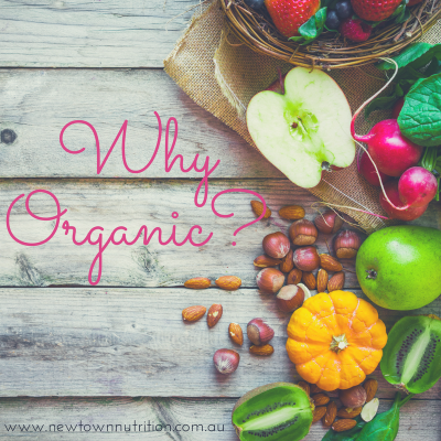 Why Organic? Free presentation addressing myths &misconceptions of organic food and lifestyle. Liz Beavis, Dietitian, Newtown Nutrition