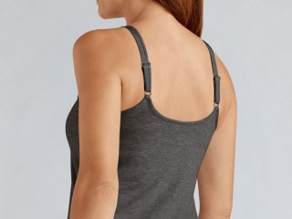 VALLETTA TOP | Charcoal Melange | Back View